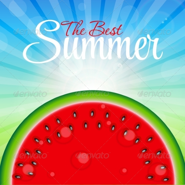 GraphicRiver Abstract Natural Summer Watermelon Background 8206176