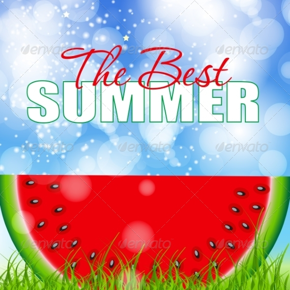 GraphicRiver Abstract Natural Summer Watermelon Background 8206280