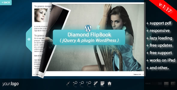 Diamond FlipBook jQuery&pluginWordPress - Screenshot 1