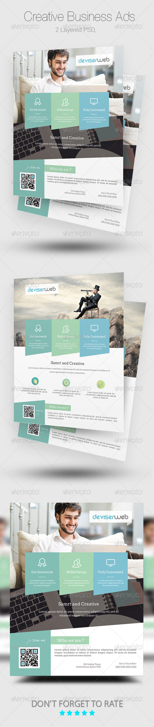 GraphicRiver Modern Business Magazine Ads Template 8206376