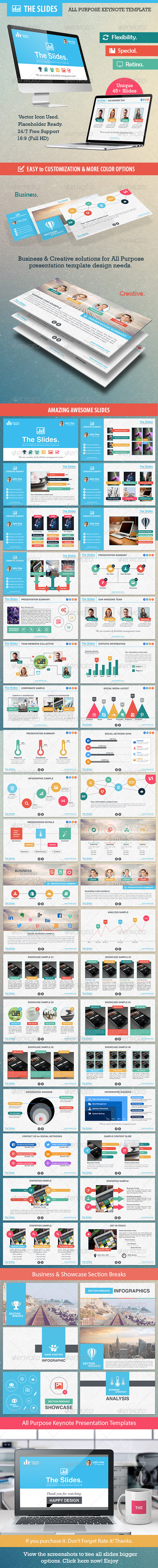 GraphicRiver The Slides All Purpose Keynote Template 8190526