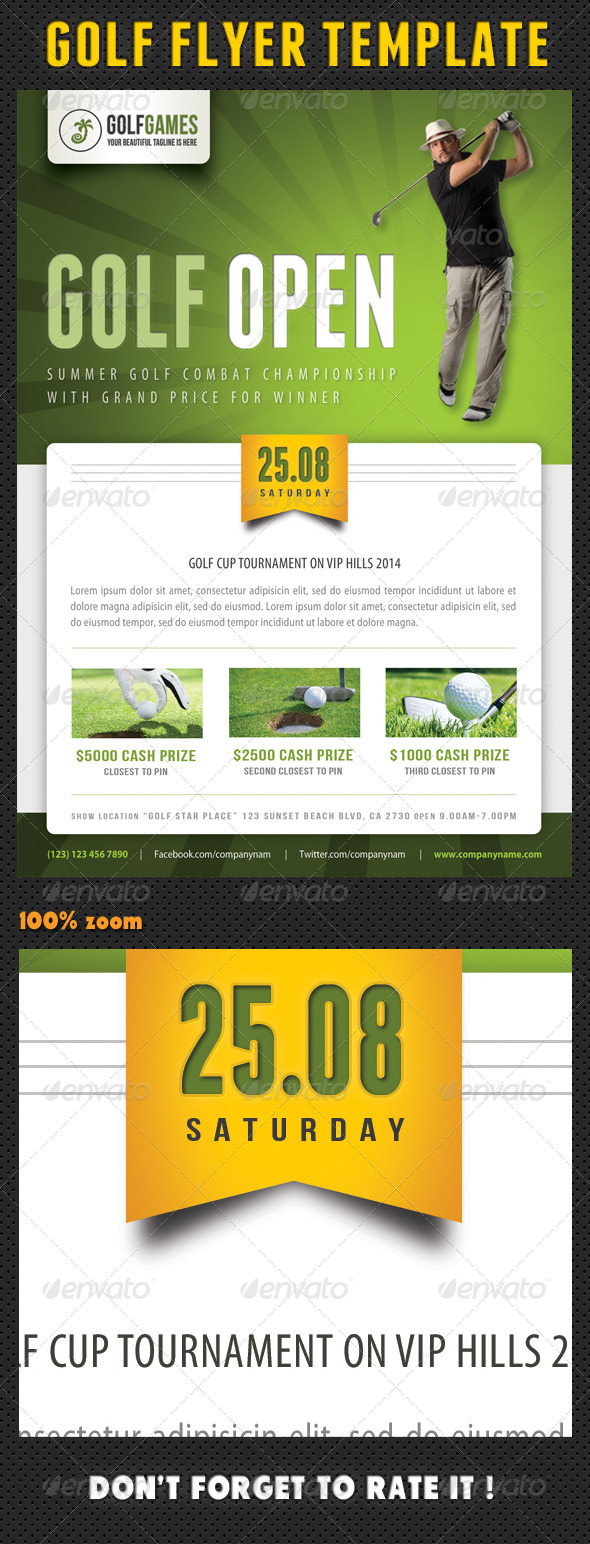 Golf Flyer Template 05 - Sports Events
