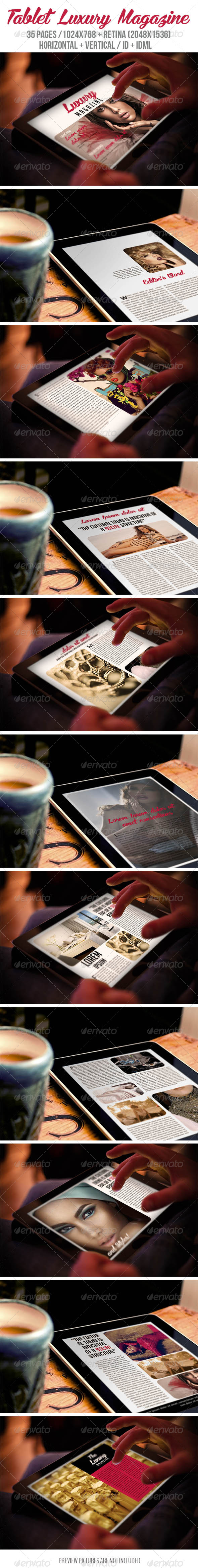 GraphicRiver Tablet Luxury Magazine 8206698