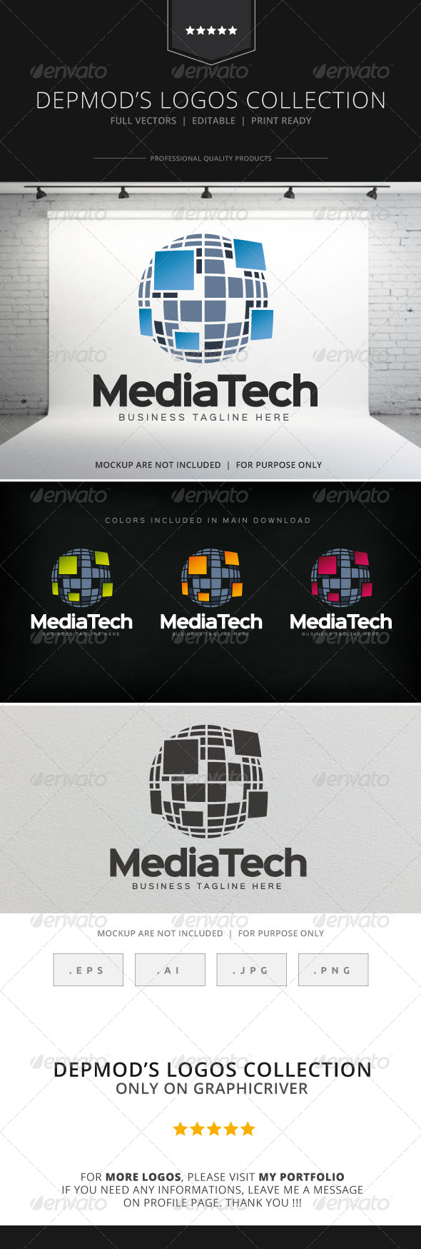 GraphicRiver Media Tech Logo 8206741