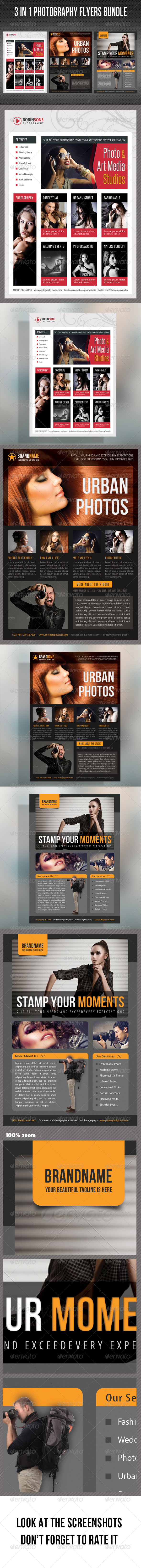 GraphicRiver 3 in 1 Photography Multipurpose Flyer Bundle 03 8206769