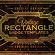 Rectangle Vintage Badges v.1 - GraphicRiver Item for Sale