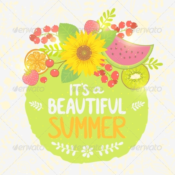 GraphicRiver Fruit Summer Label 8206832