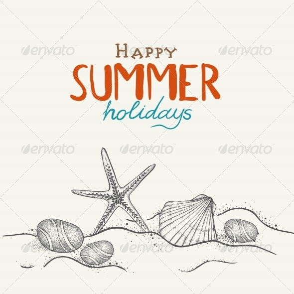 GraphicRiver Summer Holidays Background 8206850