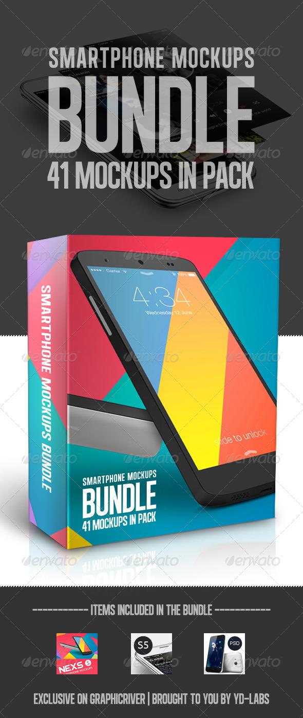 GraphicRiver Smartphone Mockups Bundle 8206959