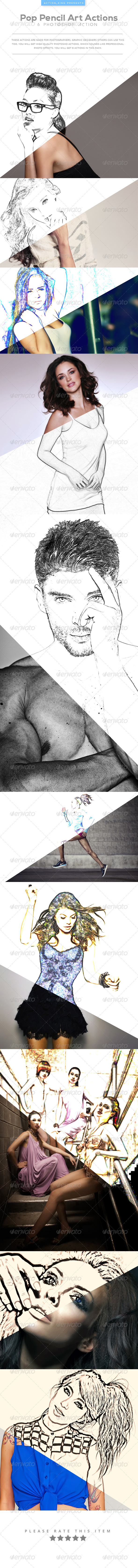 GraphicRiver Pop Pencil Art Actions 8207034