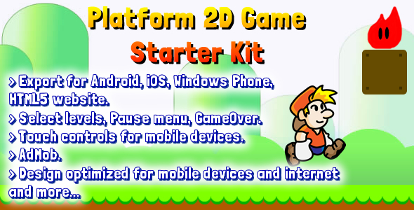 CodeCanyon Platform 2D Game Starter Kit 8170508