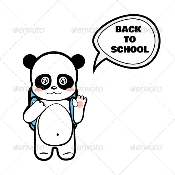 GraphicRiver Panda Schoolboy 8207239