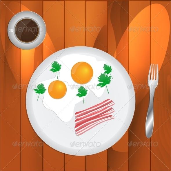 GraphicRiver Scrambled Eggs and Coffee 8207248