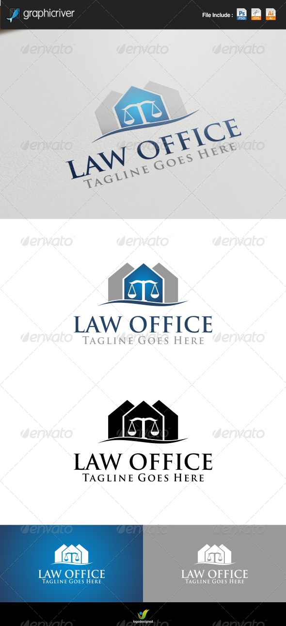 GraphicRiver Law Office Logo Template 8207304
