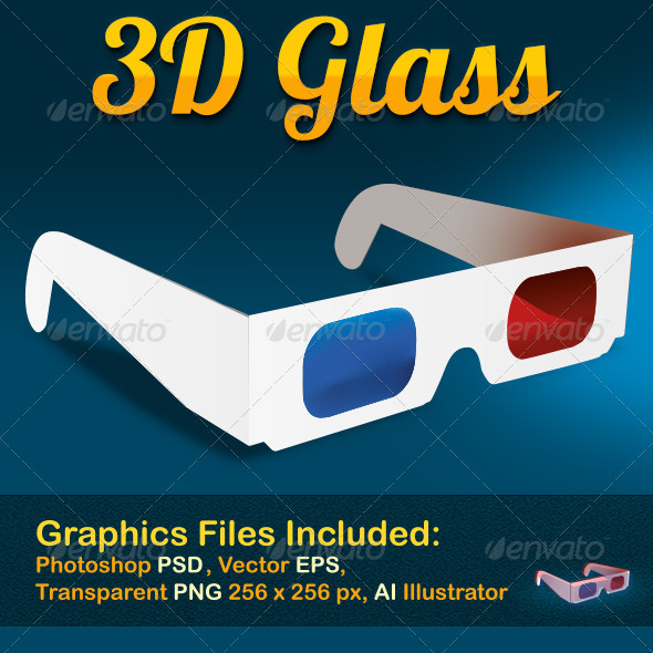 GraphicRiver 3D Cinema Glasses 8207392