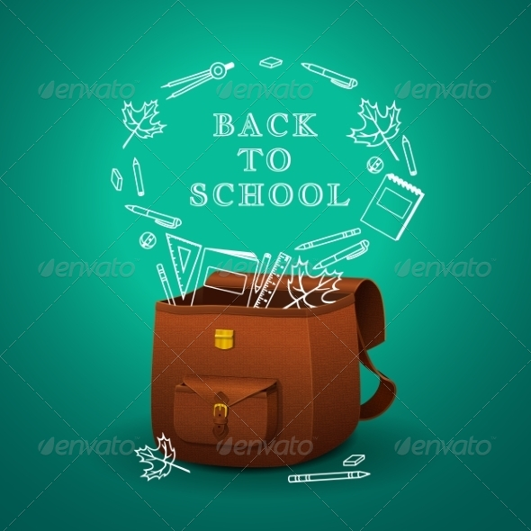 GraphicRiver School Briefcase 8207465