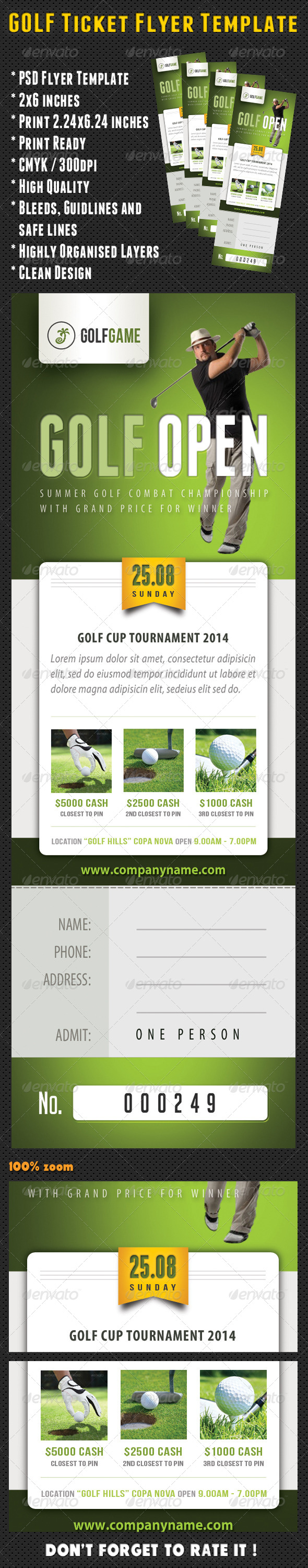 GraphicRiver Golf Ticket Template 04 8207487
