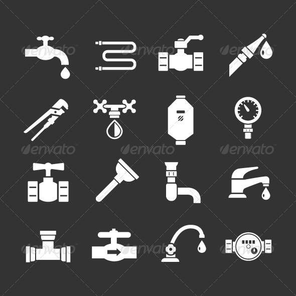 GraphicRiver Set Icons of Plumbing 8207550