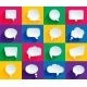 Speech Bubbles in Flat Style - GraphicRiver Item for Sale