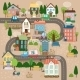 Town and Road - GraphicRiver Item for Sale