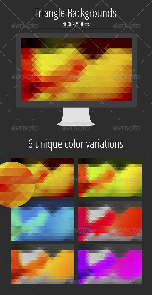 GraphicRiver Triangle Background 8197005