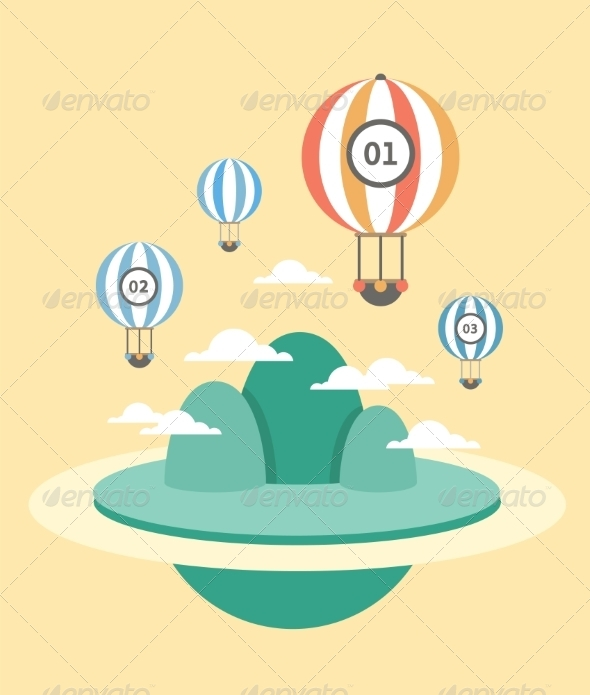 GraphicRiver Mountains with Air Balloons 8207725
