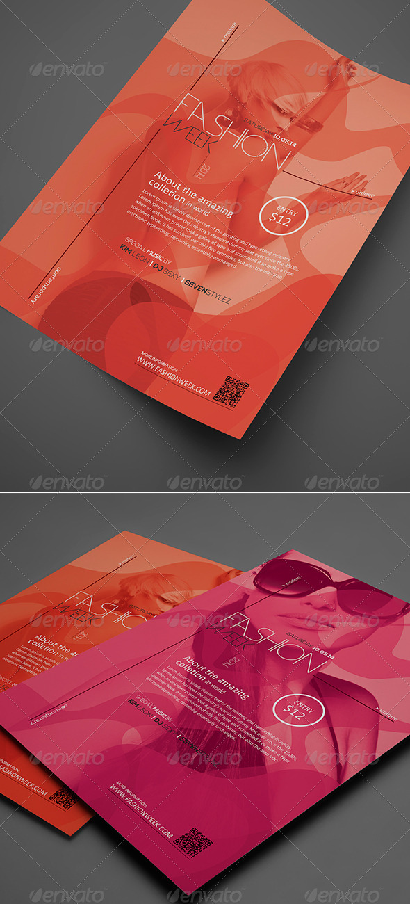 GraphicRiver Fashion Week Flyer Poster Vol 01 8207802
