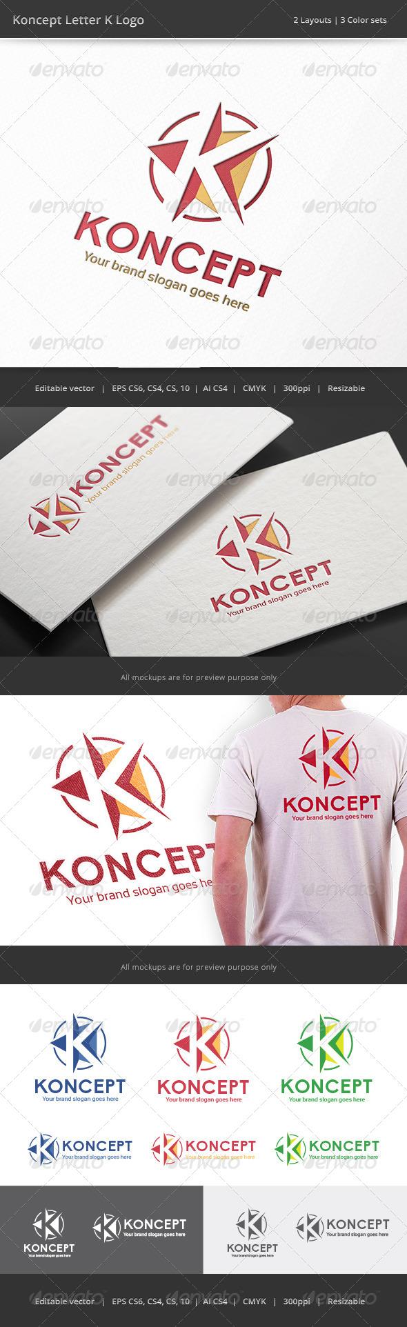GraphicRiver Koncept Letter K Logo 8207849