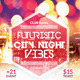 Futuristic City Night Vibes Party Flyer - GraphicRiver Item for Sale