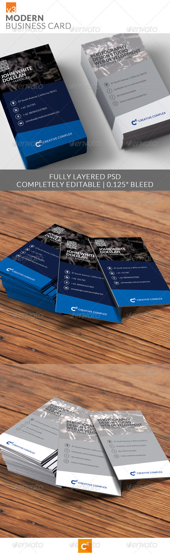 GraphicRiver Modern Business Card v3 8207885