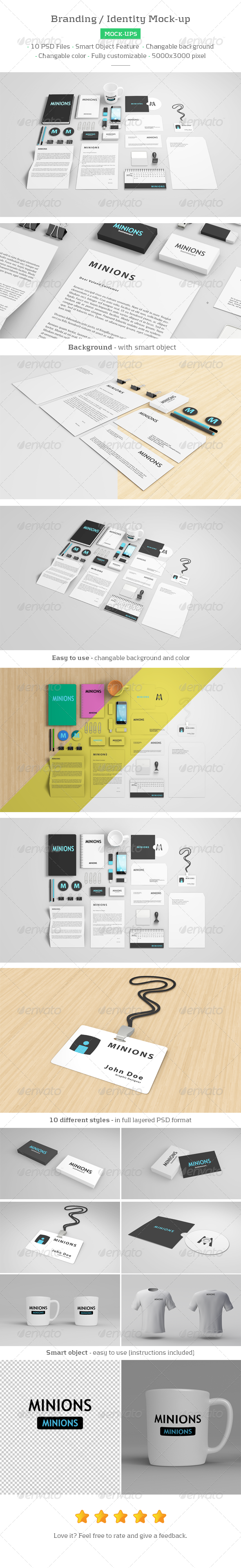 GraphicRiver Branding Identity Mockup 8207888