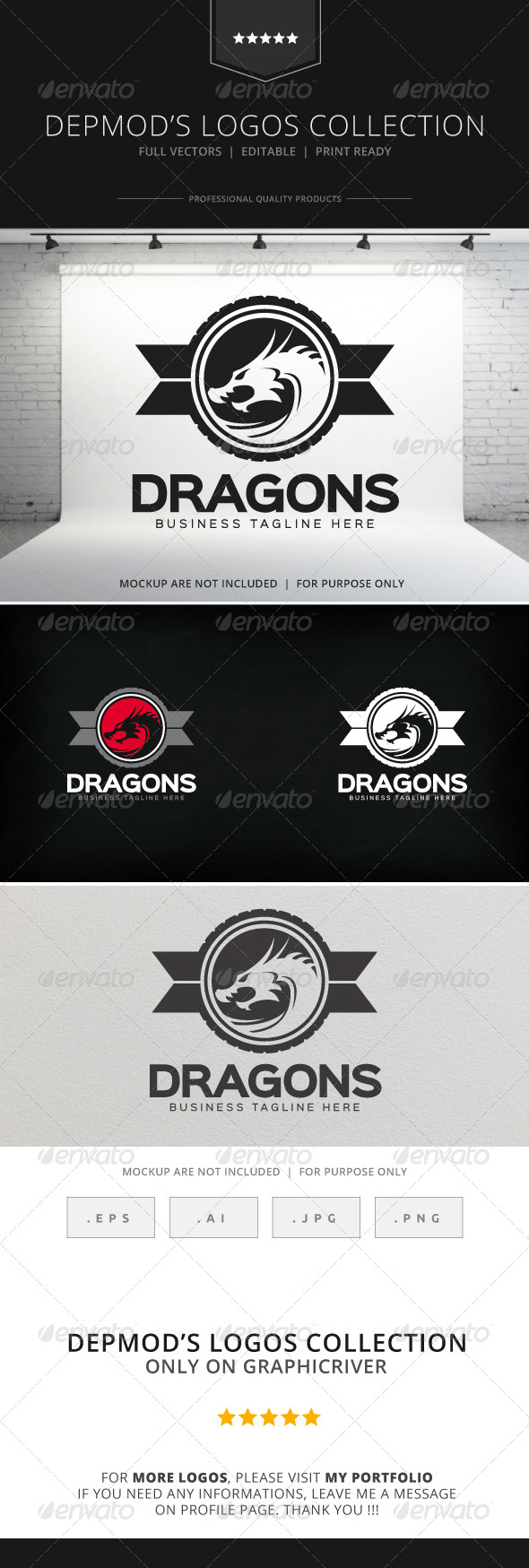 GraphicRiver Dragons Logo 8207894