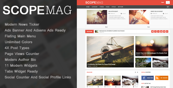 ThemeForest ScoupMag Smart & Modern Magazine Theme 8106574
