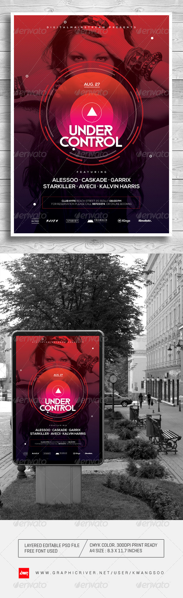 GraphicRiver Under Control Electro Music Poster 8207923