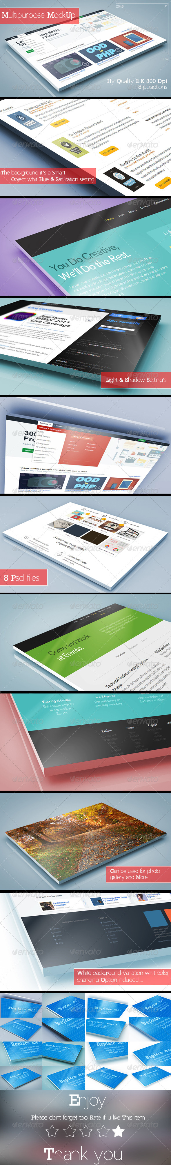 GraphicRiver 3D Multipurpose MockUp 8197098