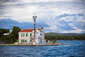 Small lighthouse in a Sibenik bay entrance, Croatia - PhotoDune Item for Sale