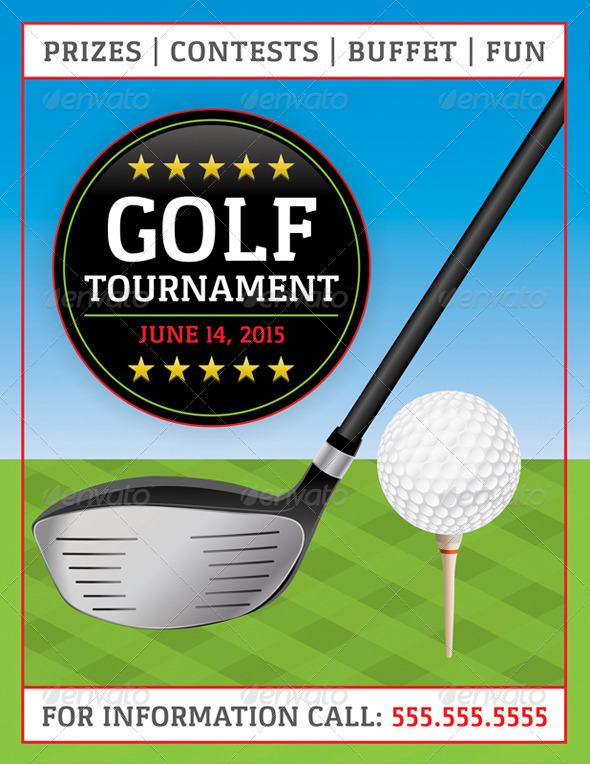 GraphicRiver Vector Golf Tournament Flyer 8208524