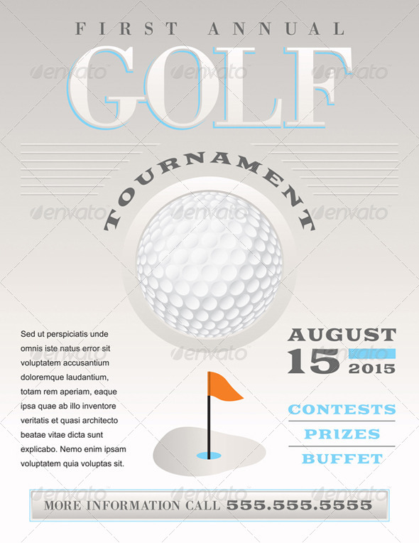 GraphicRiver Vector Minimal Golf Tournament Illustration 8208542