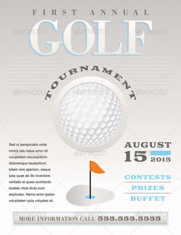 GraphicRiver Vector Minimal Golf Tournament Illustration 8208542
