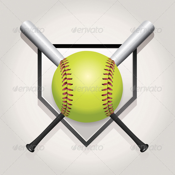 GraphicRiver Softball Emblem 8208642