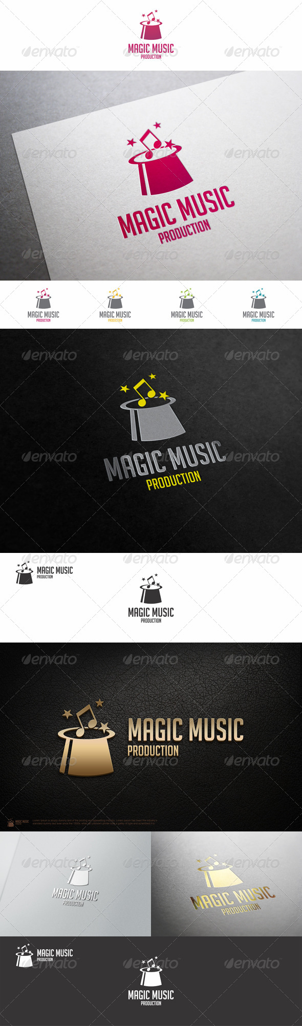 Magic Music Studio Logo - Objects Logo Templates