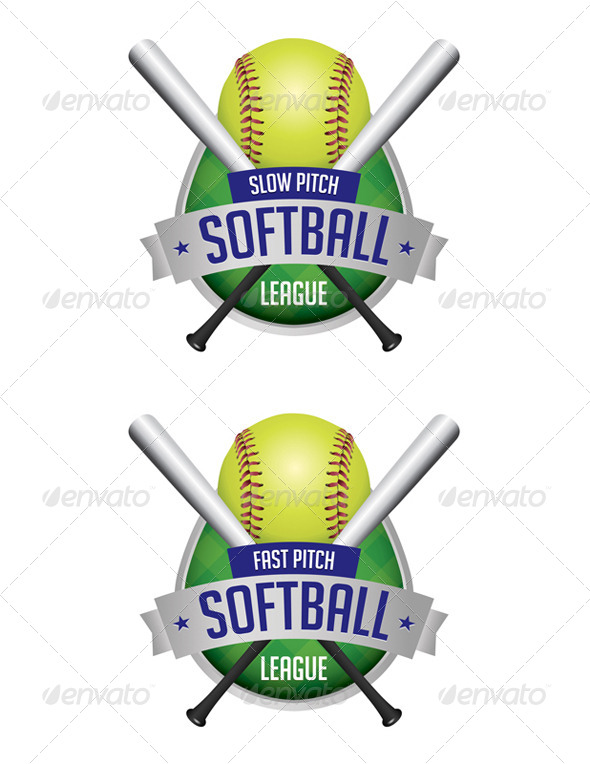 Vector Softball League Emblems