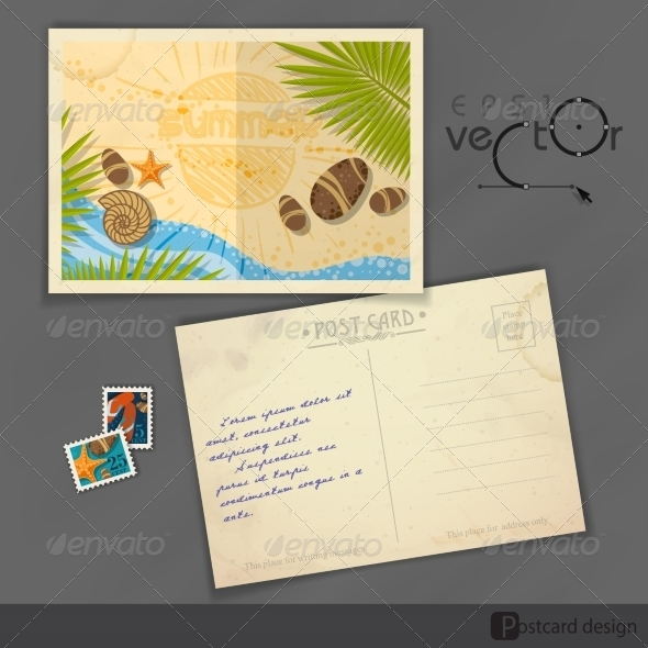 GraphicRiver Old Postcard Design Template 8208727