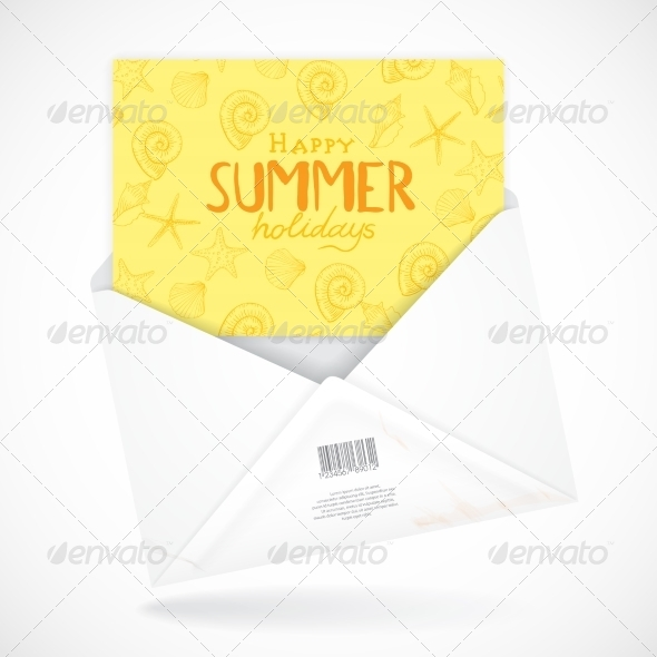 GraphicRiver Postal Envelopes With Greeting Card 8208750