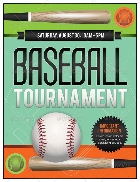 GraphicRiver Vector Baseball Tournament Illustration 8208761