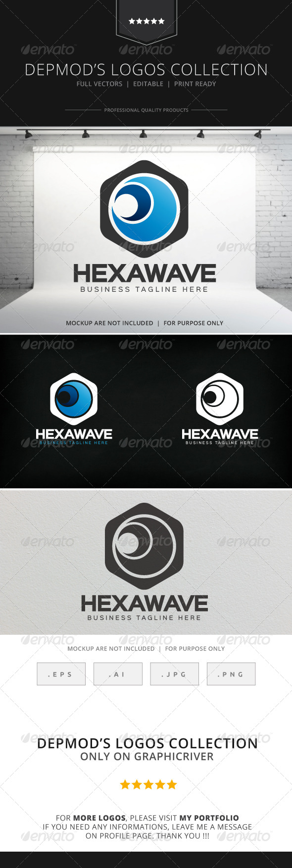 GraphicRiver Hexa Wave Logo 8208879
