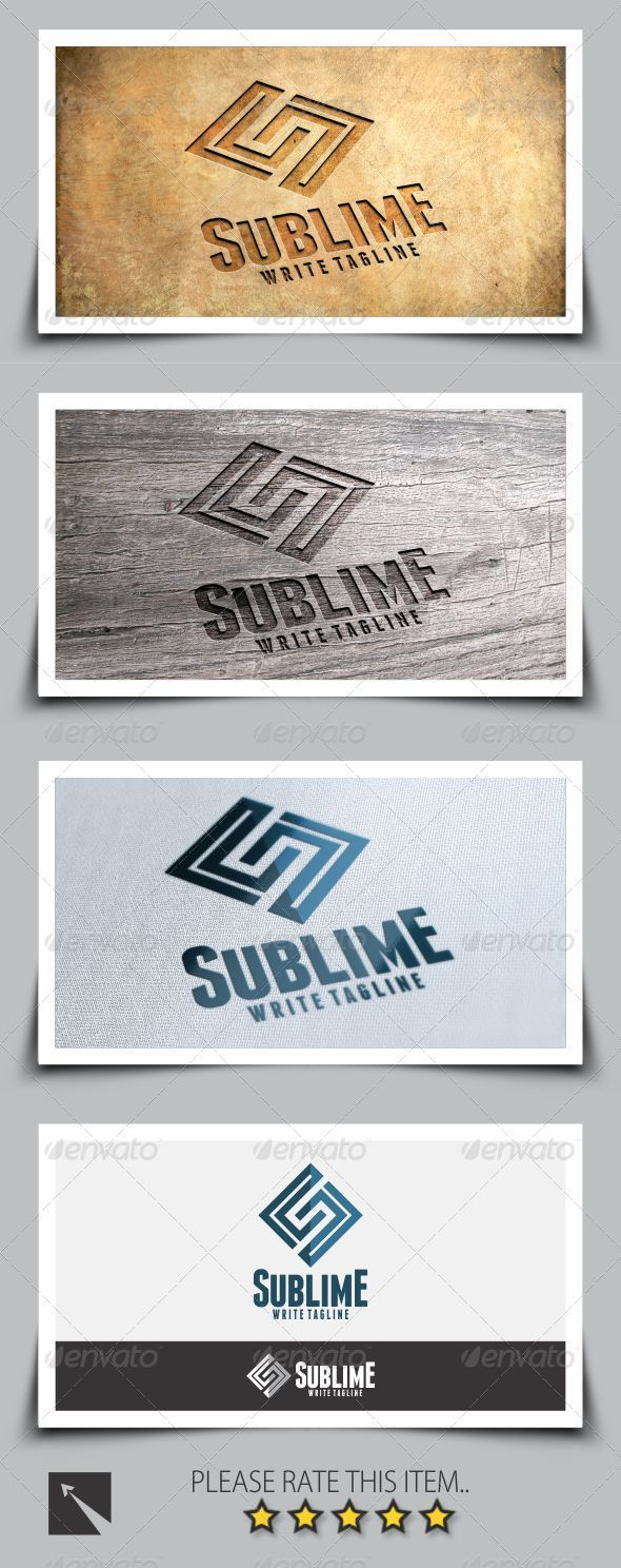 GraphicRiver Sublime Letter S Logo Template 8208933