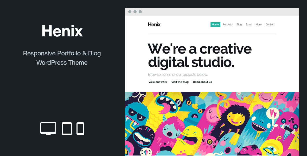 Henix: Responsive Portfolio & Blog WordPress Theme