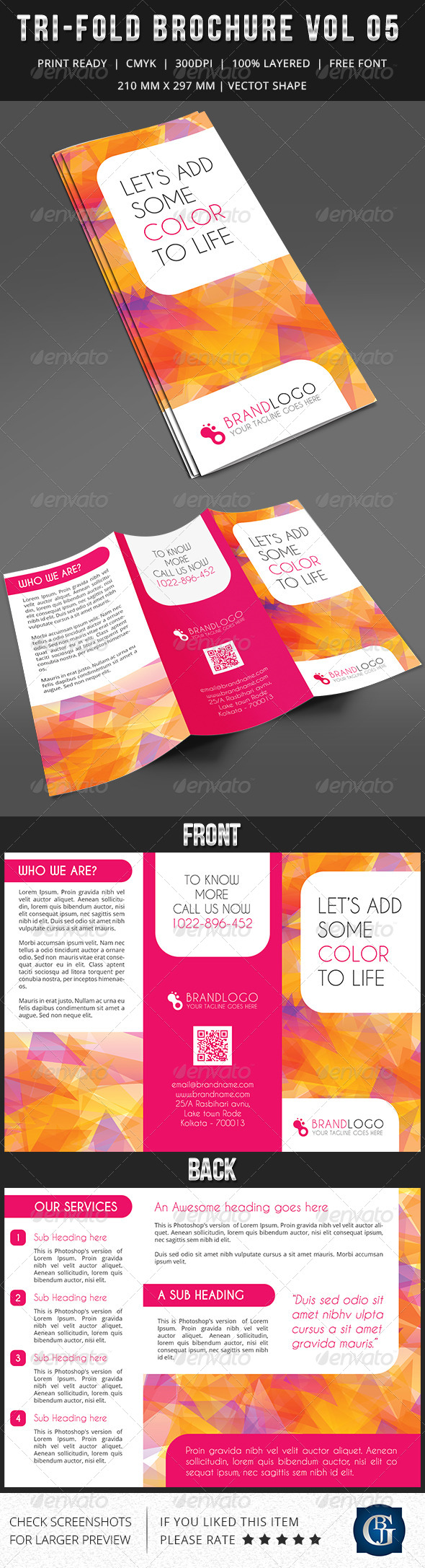 Corporate Multipurpose Trifold Brochure Vol 5 - Informational Brochures