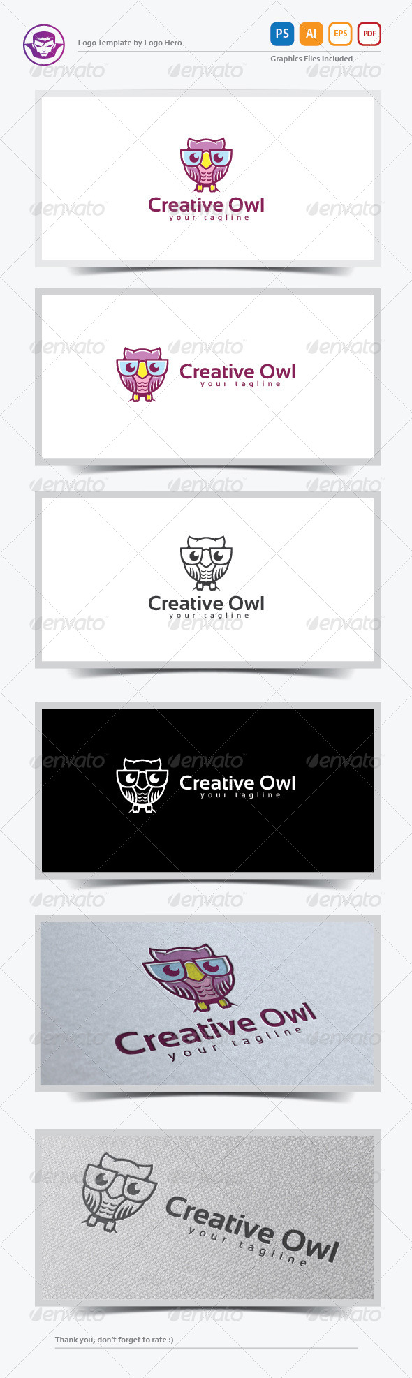GraphicRiver Creative Owl Logo Template 8199078